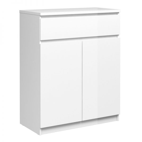 Naia Sideboard - 1 Drawer 2 Doors in White High Gloss