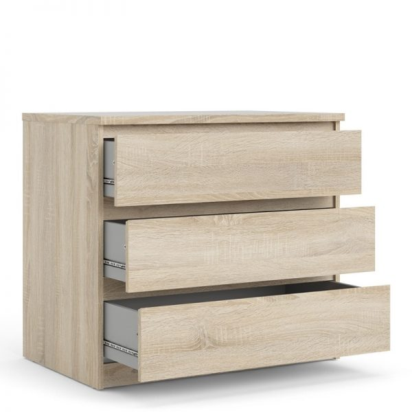 Naia Chest of 3 Drawers in Oak structure