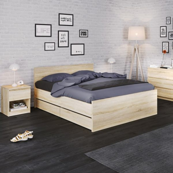 Naia Set of 2 Underbed Drawers (for Single or Double beds) in Oak
