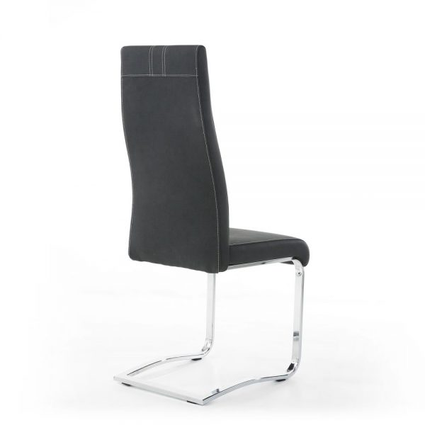 Nova Cantilever Dark Grey Dining Chair