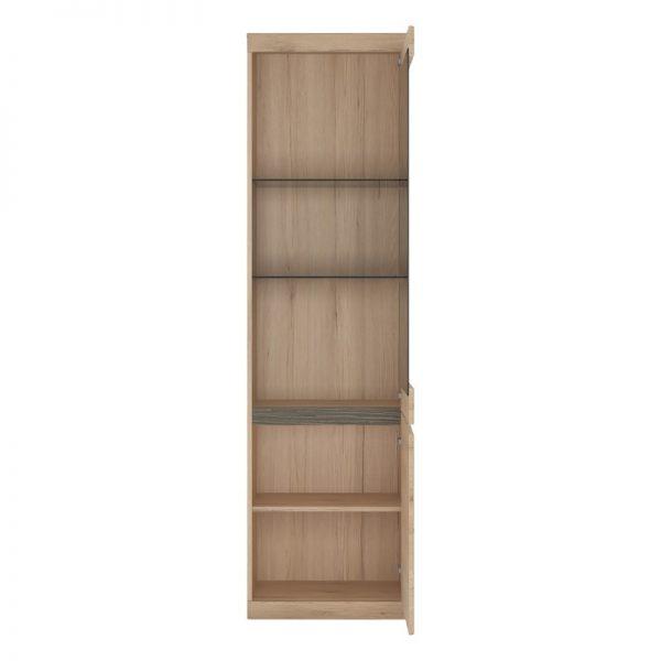 Kensington Tall Narrow 2 Door Glazed Display Cabinet (RHD)