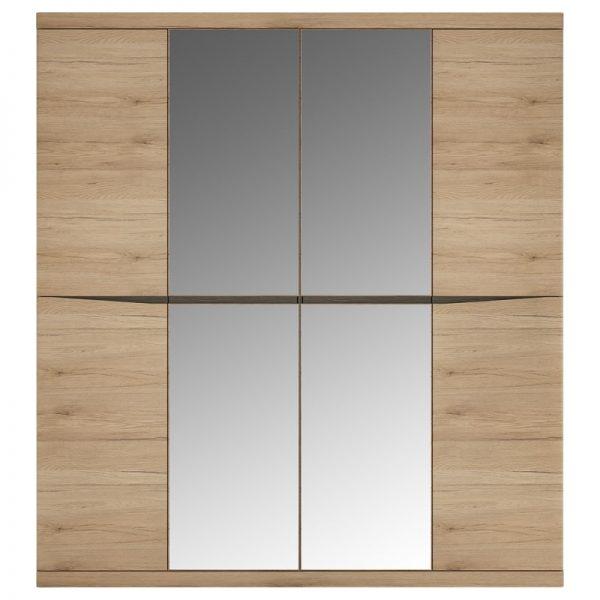 Kensington 4 Door Wardrobe with 2 Mirror doors