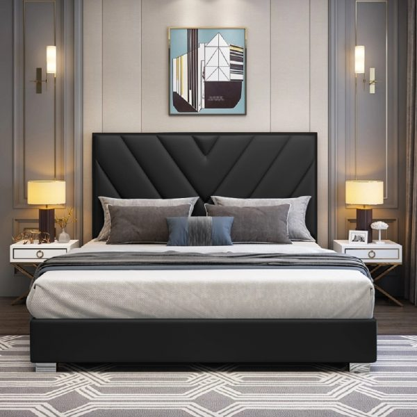 Deana Bed Super King Plush Velvet Black - Super King