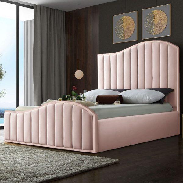 Magnifik Bed Single Plush Velvet Pink - Single