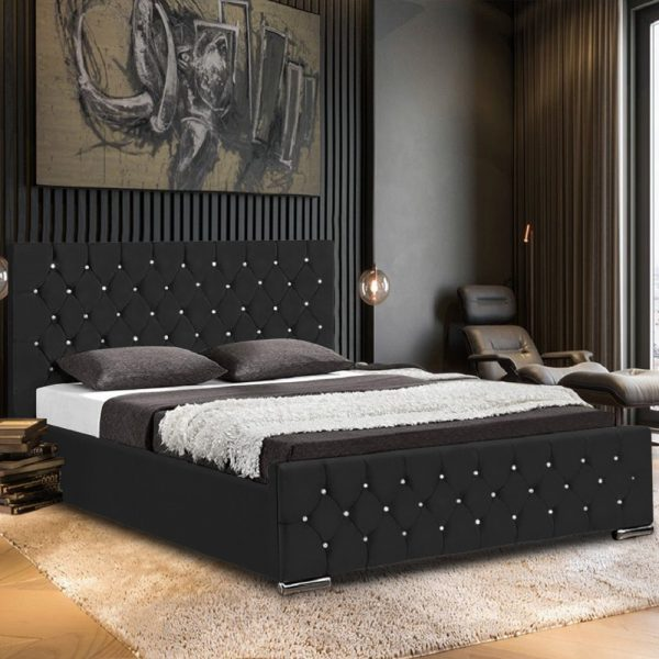 Prima Bed Super King Plush Velvet Black - Super King