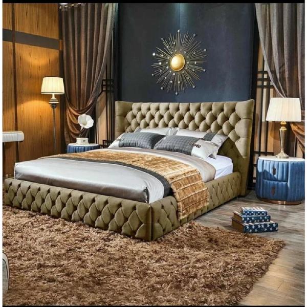 Royale Bed Double Plush Velvet Mink - Double