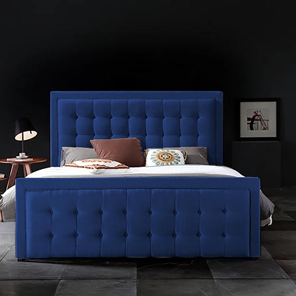 Swain Bed Super King Plush Velvet Blue - Super King