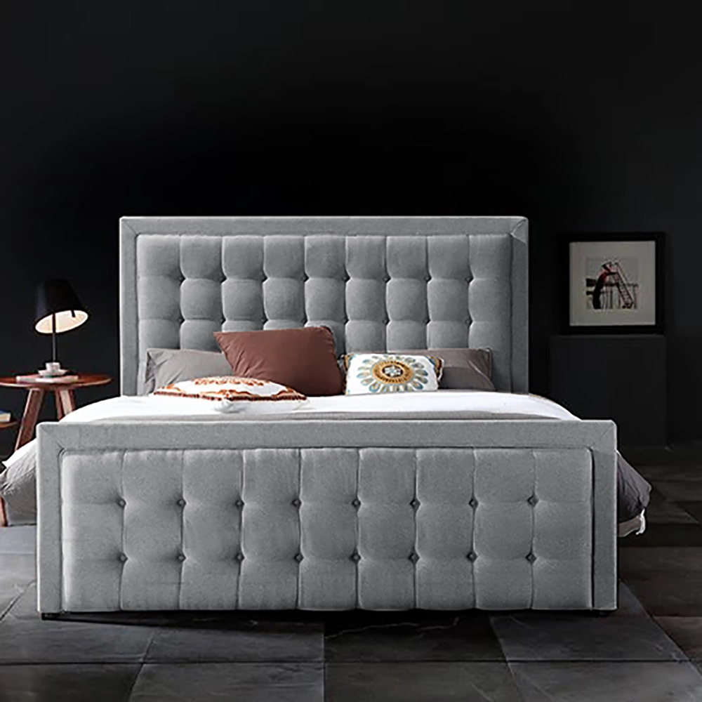Swain Bed Super King Plush Velvet Grey - Super King