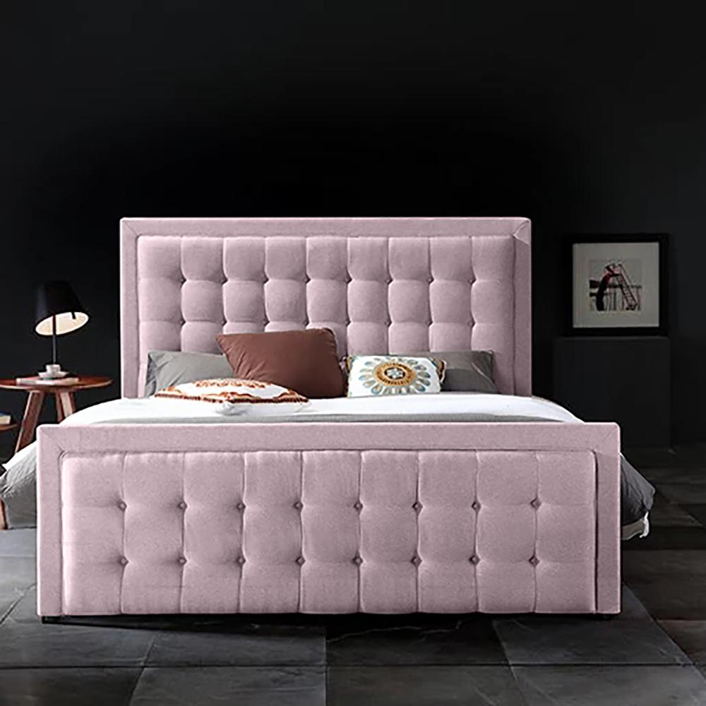 Swain Bed Single Plush Velvet Pink - Single