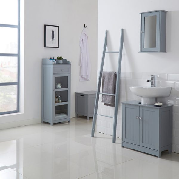 Alaska Wall Cabinet With Mirror Grey