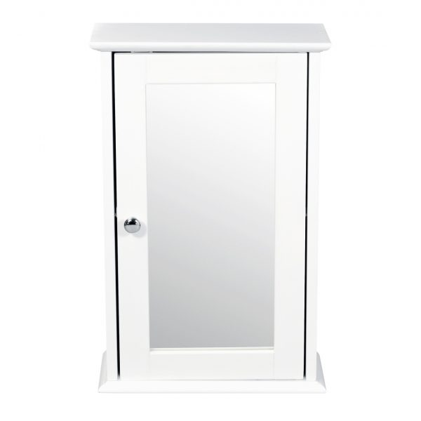 Alaska Wall Cabinet With Mirror White