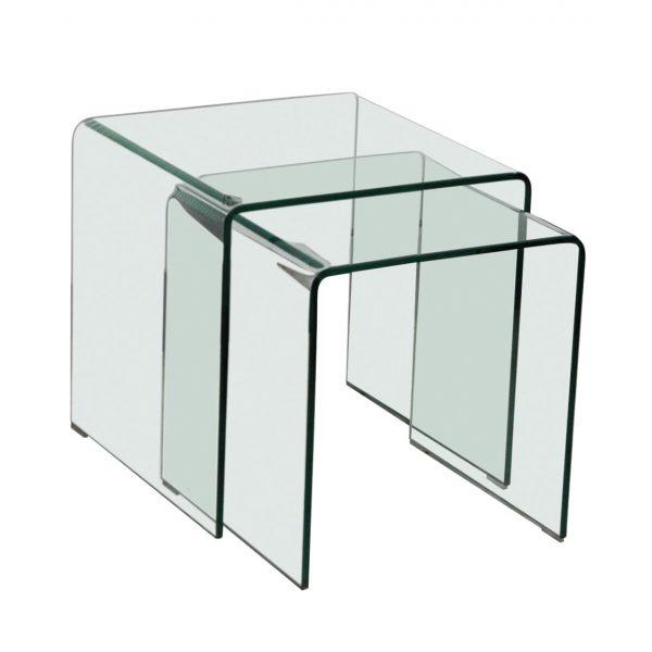 Azurro Nest Of 2 Tables Glass