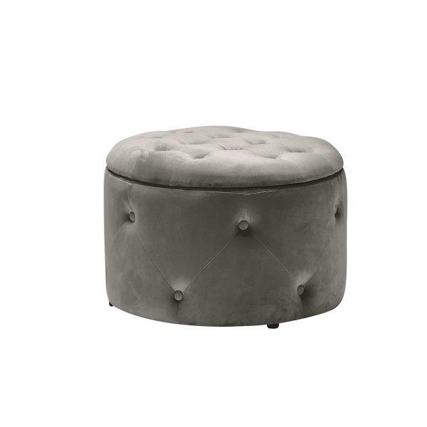 Cleo Storage Pouff Charcoal