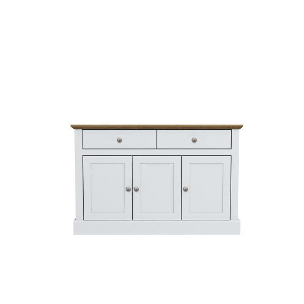 Devon 3 Door 2 Drawer Sideboard White