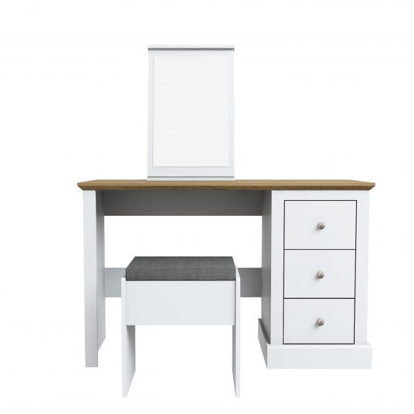 Devon Dressing Table Set White