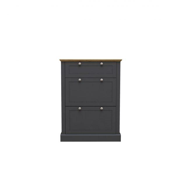 Devon Shoe Cabinet Charcoal