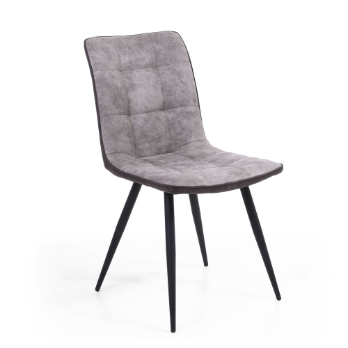 Rodeo Suede Effect Light Grey Dining Chair
