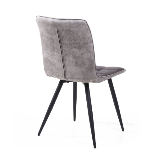 Rodeo Suede Effect Dark Grey Dining Chair
