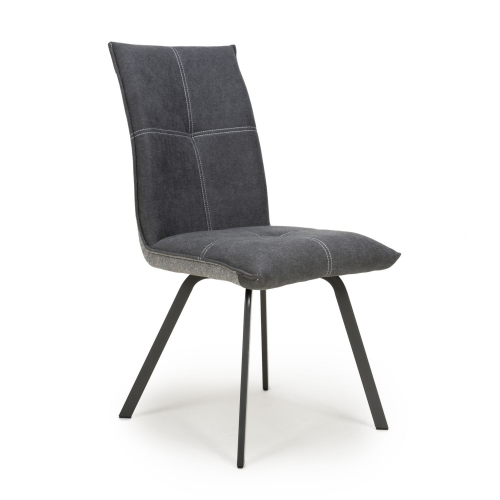 Ariel Linen Effect Dark Grey Dining Chair
