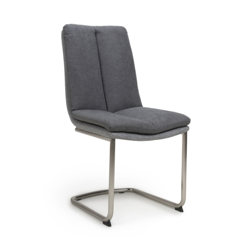 Triton Linen Effect Dark Grey Dining Chair