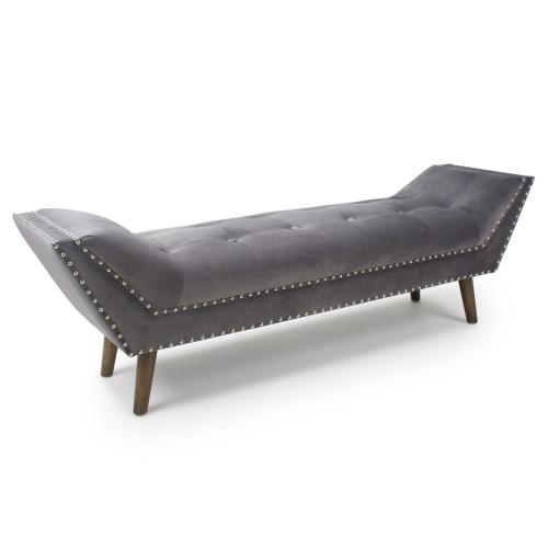Montrose Large Brushed Velvet Grey Chaise