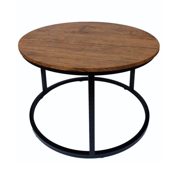 Java Coffee Table Black Frame-Distressed Tops
