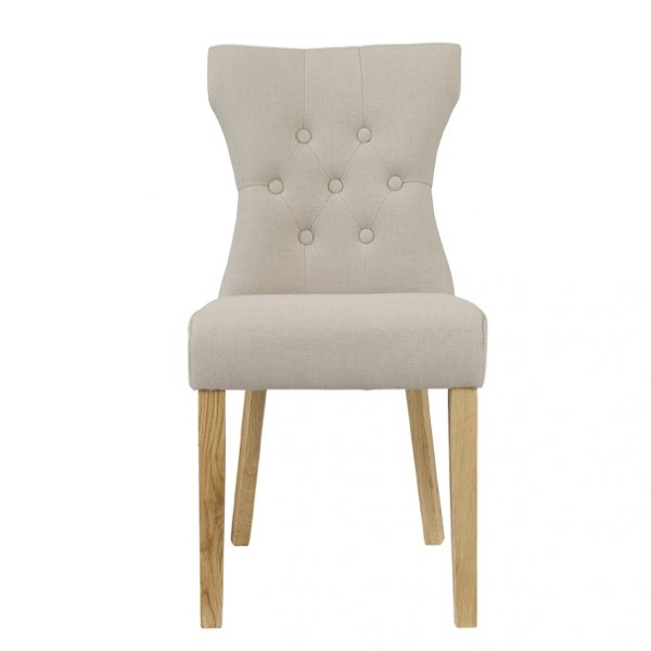 Naples Dining Chair Beige (Pack of 2)