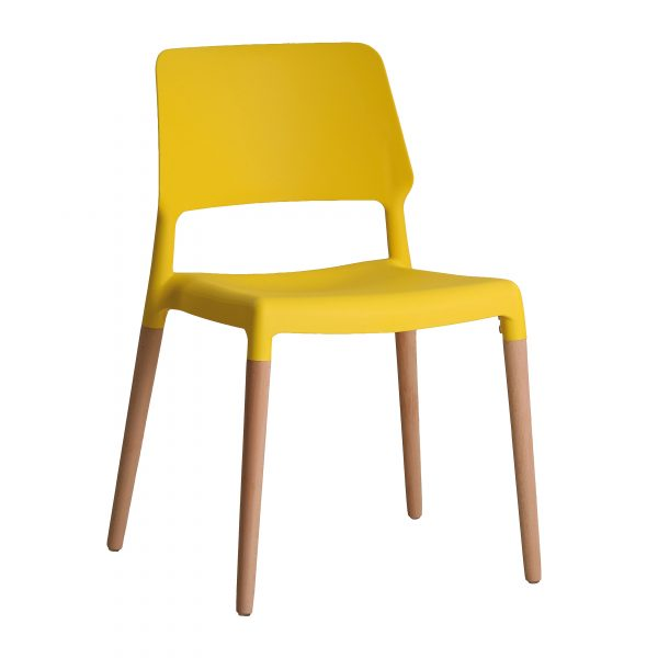 Riva Chair Yellow (Pack of 2)