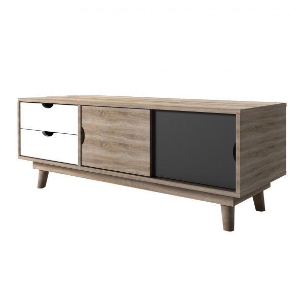 Scandi Oak TV Unit Grey