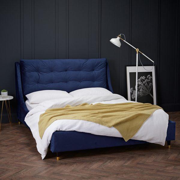 Sloane Blue Double Bed