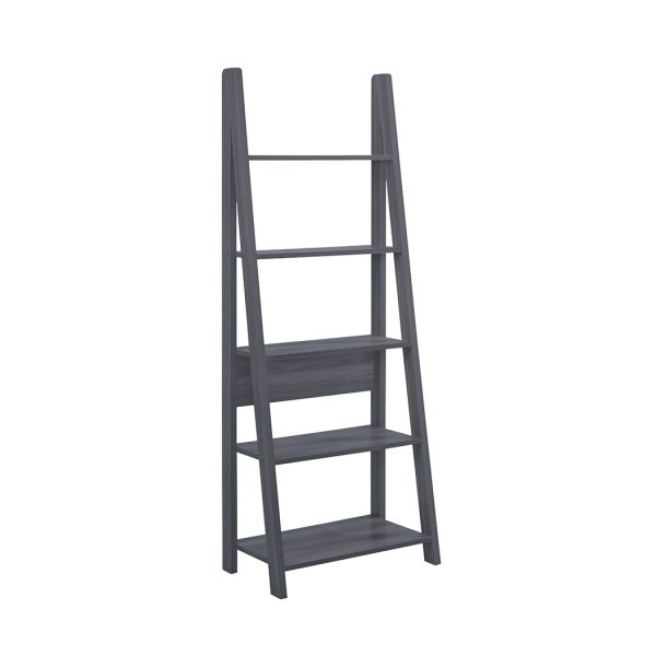 Tiva Ladder Bookcase Black