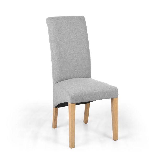 Kenna Linen Effect Dark Grey Dining Chair