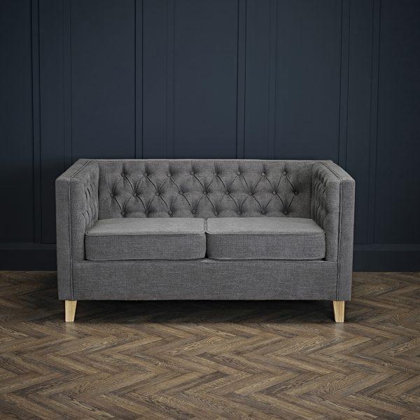 York 2 Seater Sofa Grey
