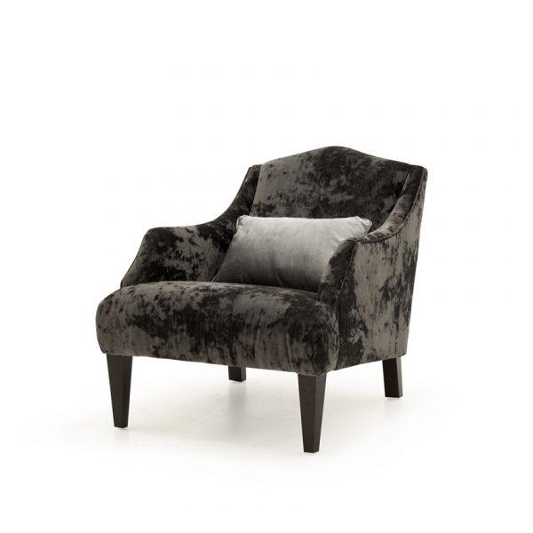 Belvedere Accent Chair - Black - 1 Bolster (Nett)
