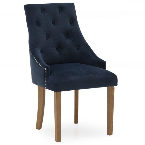 Hobbs Dining Chair - Velvet Midnight (2/Box)