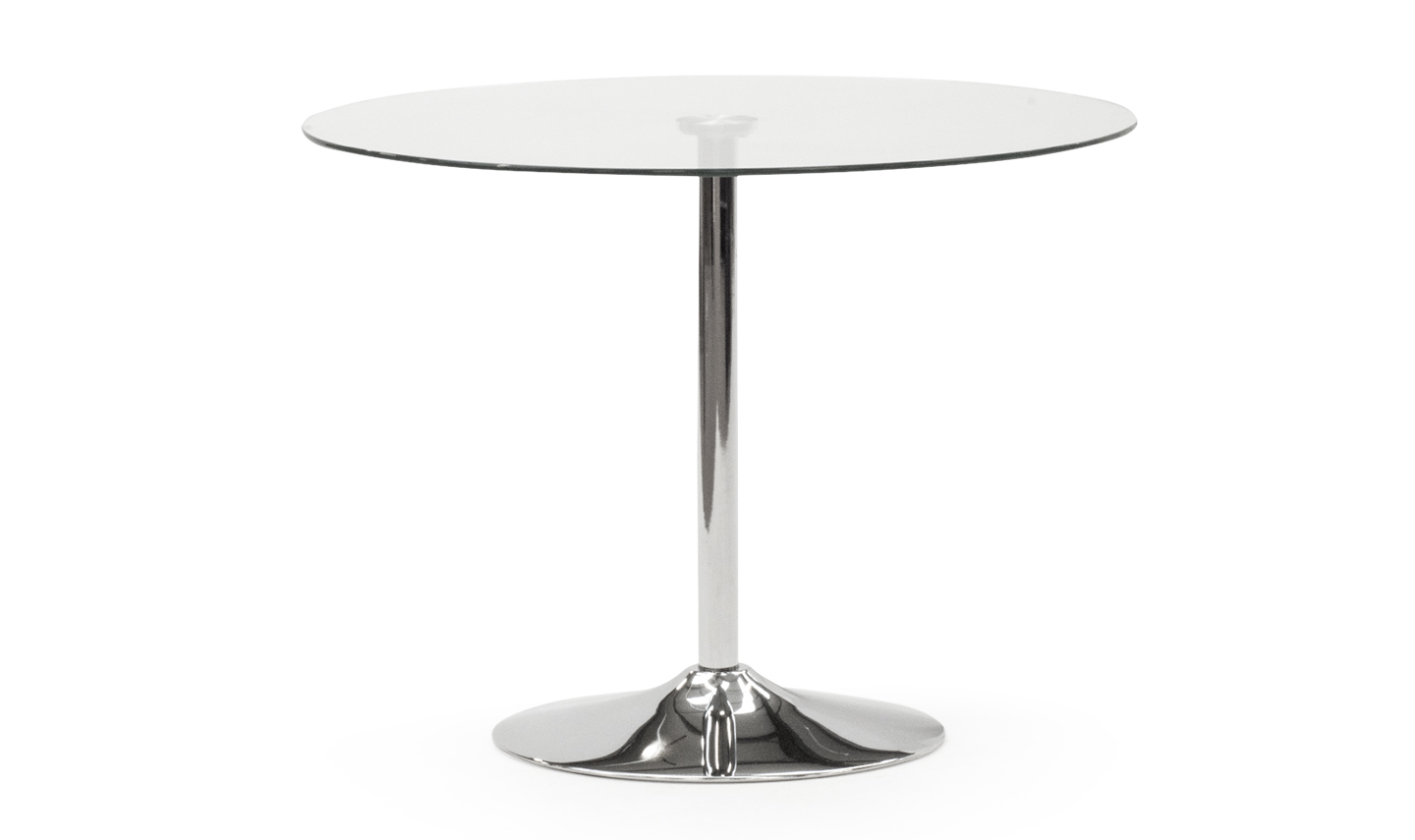 Orbit Dining Table 900 - Clear