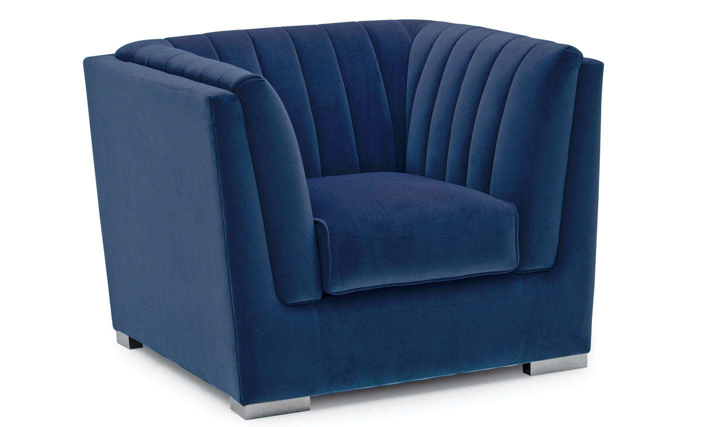 Upton Armchair 1 Seater Fixed - Blue (NR)