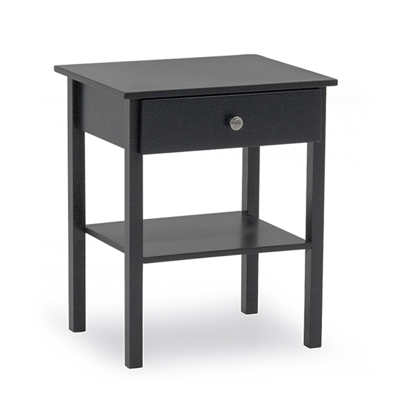 Willow Bedside Table - Grey