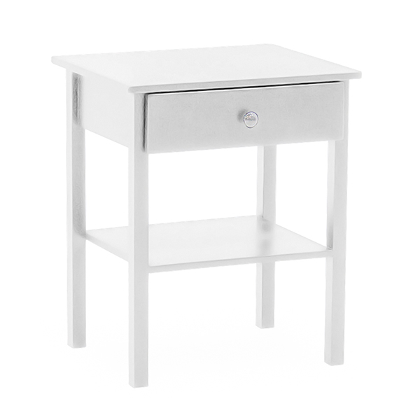 Willow Bedside Table - White