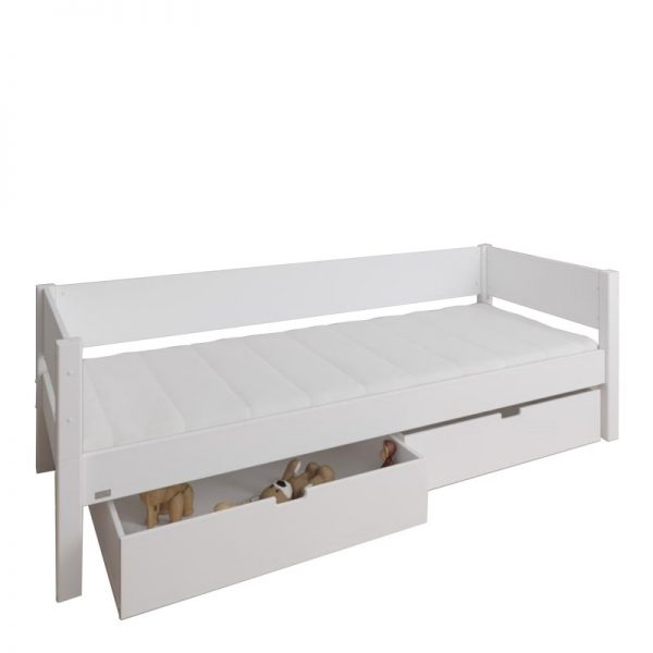 Manis-h White Day Bed with 2 drawers in Snow White