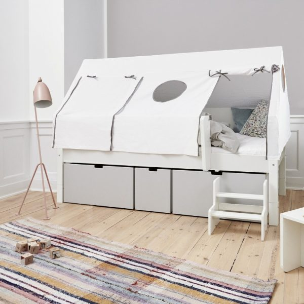 Manis-h Bed Canopy Frame and Drape